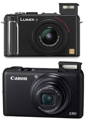 Arriba la Canon S90, abajo la Panasonic LX3